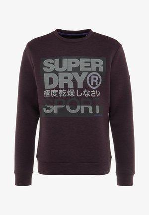CORE GYM TECH CREW - Sweater - bordeaux