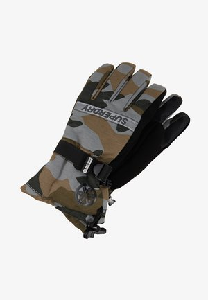 ULTIMATE SNOW RESCUE GLOVE - Rękawiczki pięciopalcowe - black/grey/brown