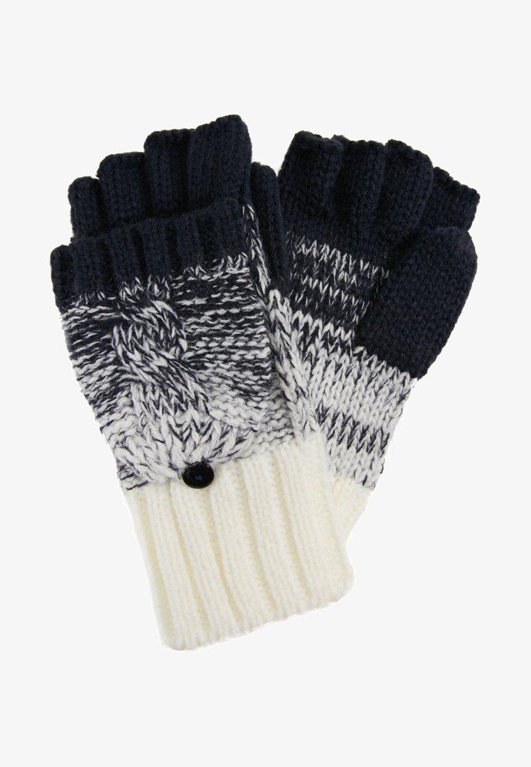 Superdry - CLARRIE CABLE MITTENS - Fingerless gloves - dark blue