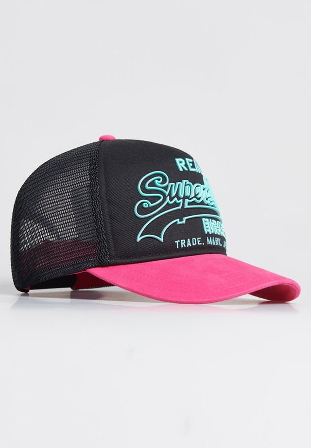 SUPERDRY PREMIUM GOODS OUTLINE CAP - Cap - fluro pink