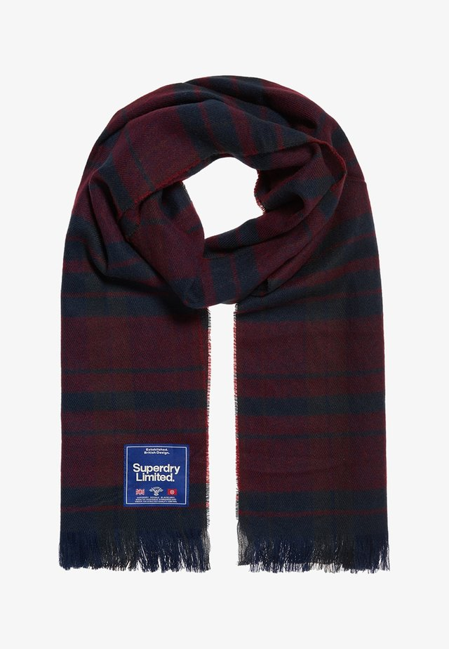 CAPITAL - Schal - dark navy/wine