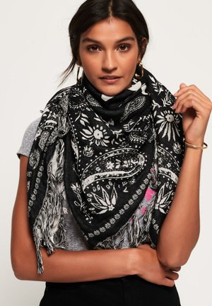 SQUARE SMOCK - Scarf - black/white
