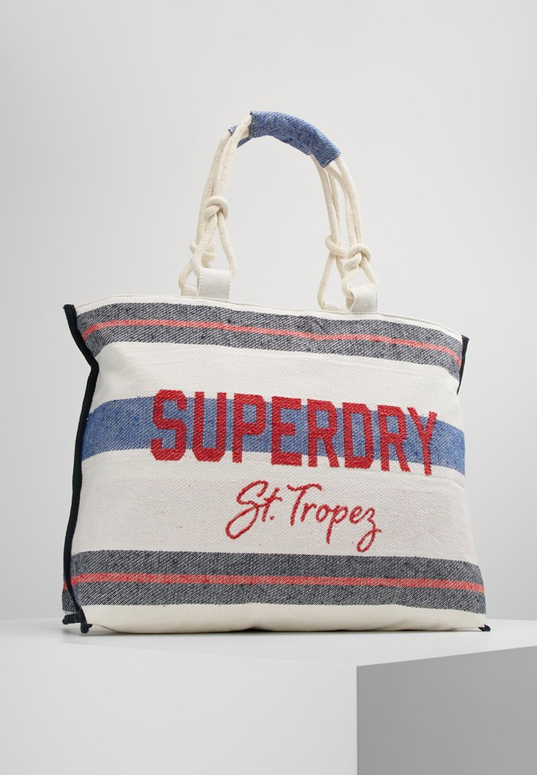Superdry - AMAYA ROPE TOTE - Shoppingväska - navy/stripe