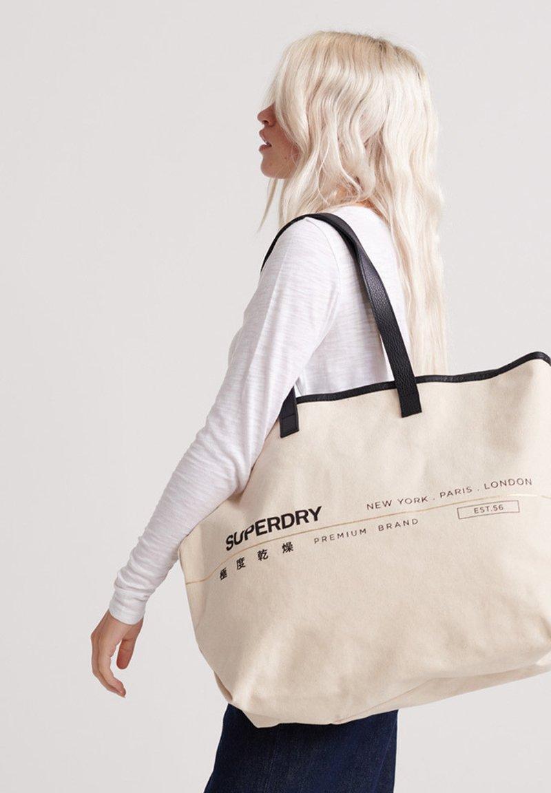 Superdry - PORTLAND - Shopping Bag - off-white