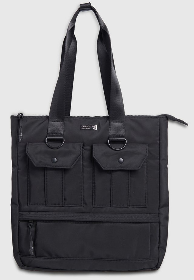 SUPERDRY CONVERTIBLE UTILITY TOTE BAG - Shopping Bag - black