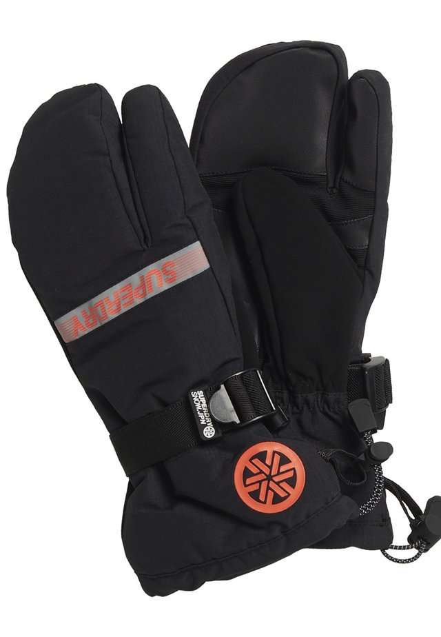 SUPERDRY ULTIMATE SNOW RESCUE TRIGGER MITTENS - Fäustling - onyx black