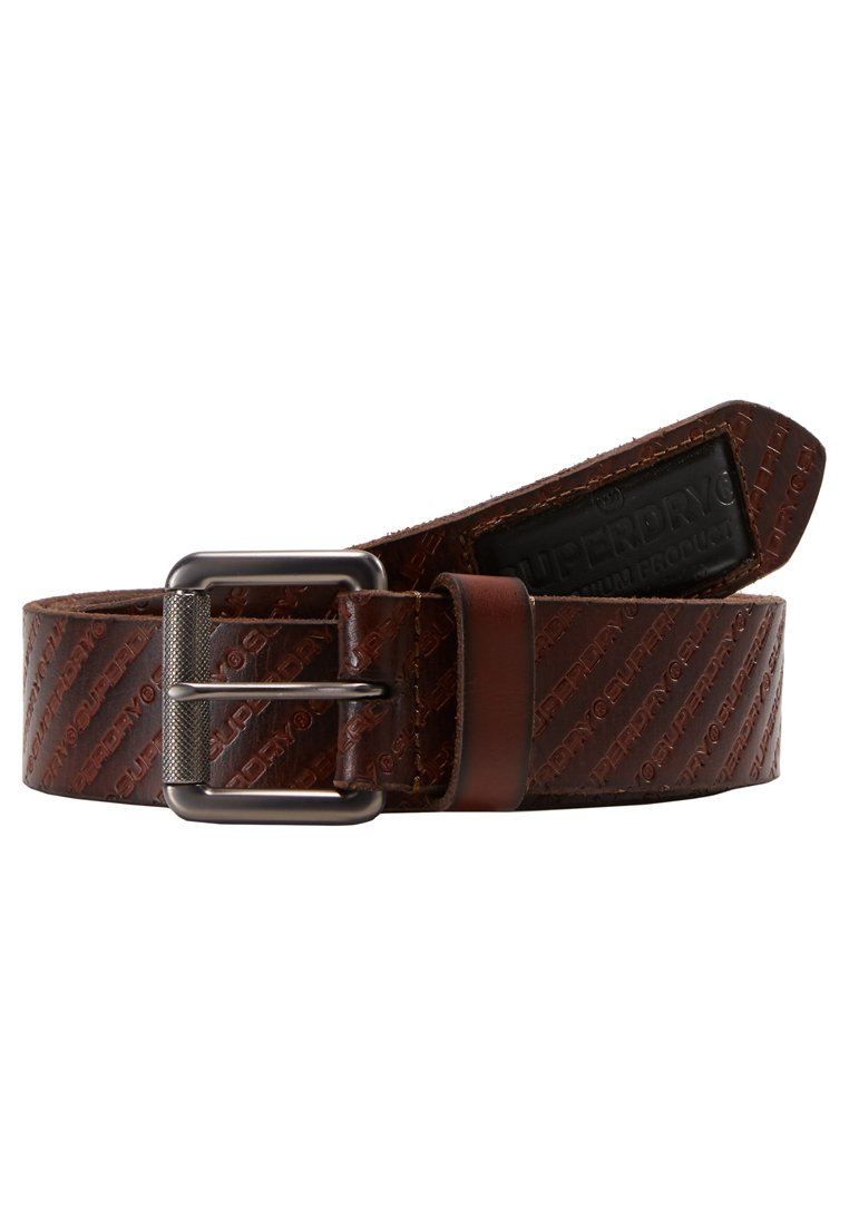 Superdry BADGEMAN BELT Gürtel tan