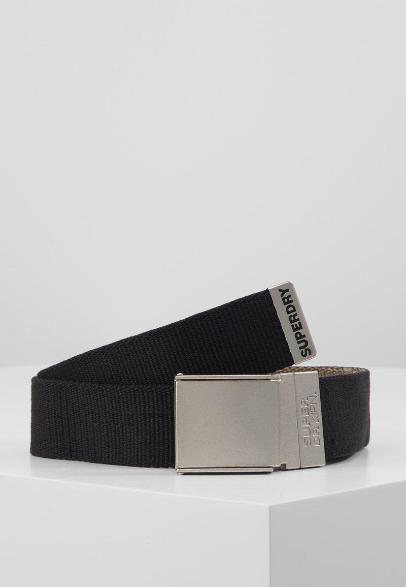 Superdry - REVERSIBLE BELT - Belt - black/khaki