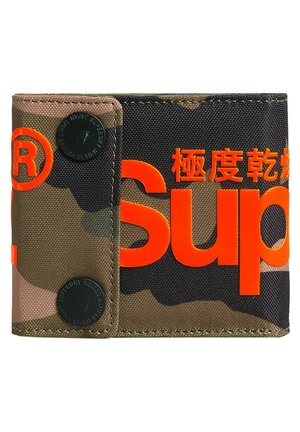 SUPERDRY 2 POPPER WALLET - Portfel - green camo