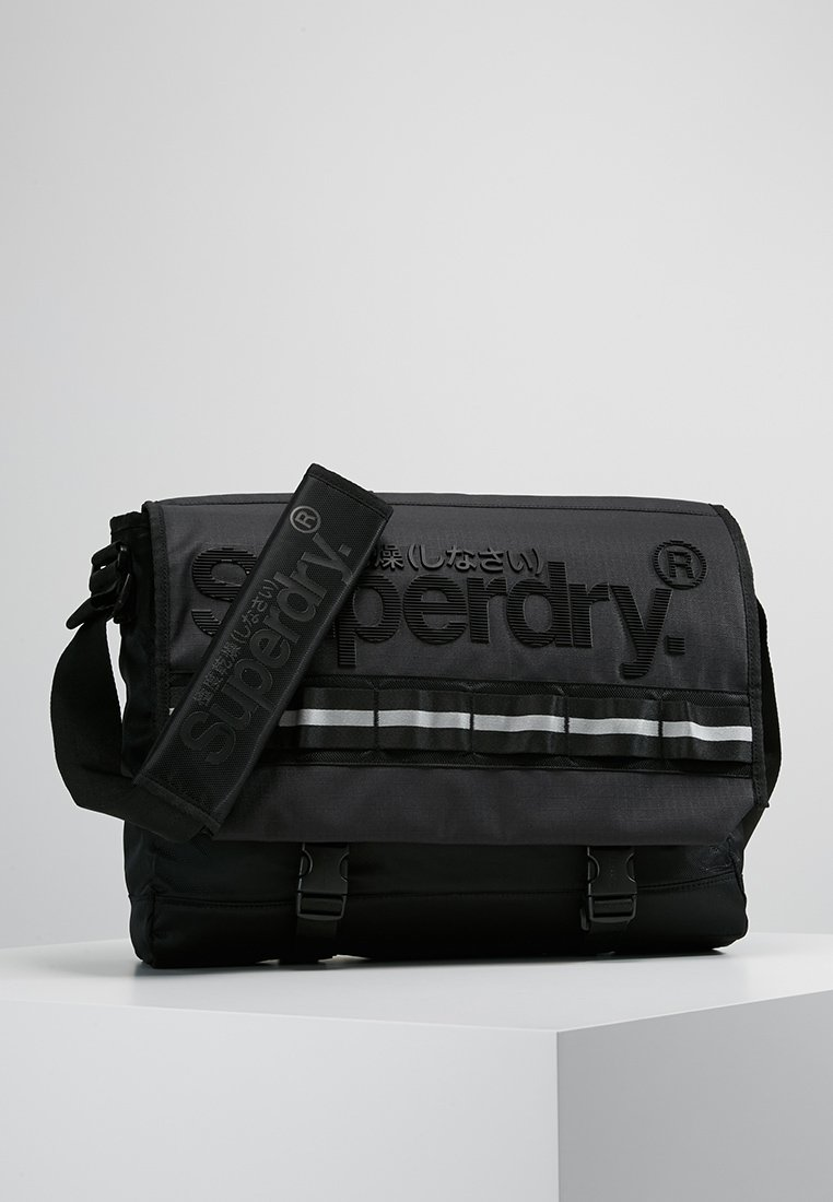 Superdry - LINE MERCHANT MESSENGER - Across body bag - black