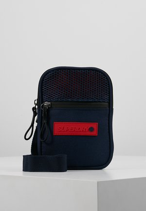 Across body bag - dark blue/red