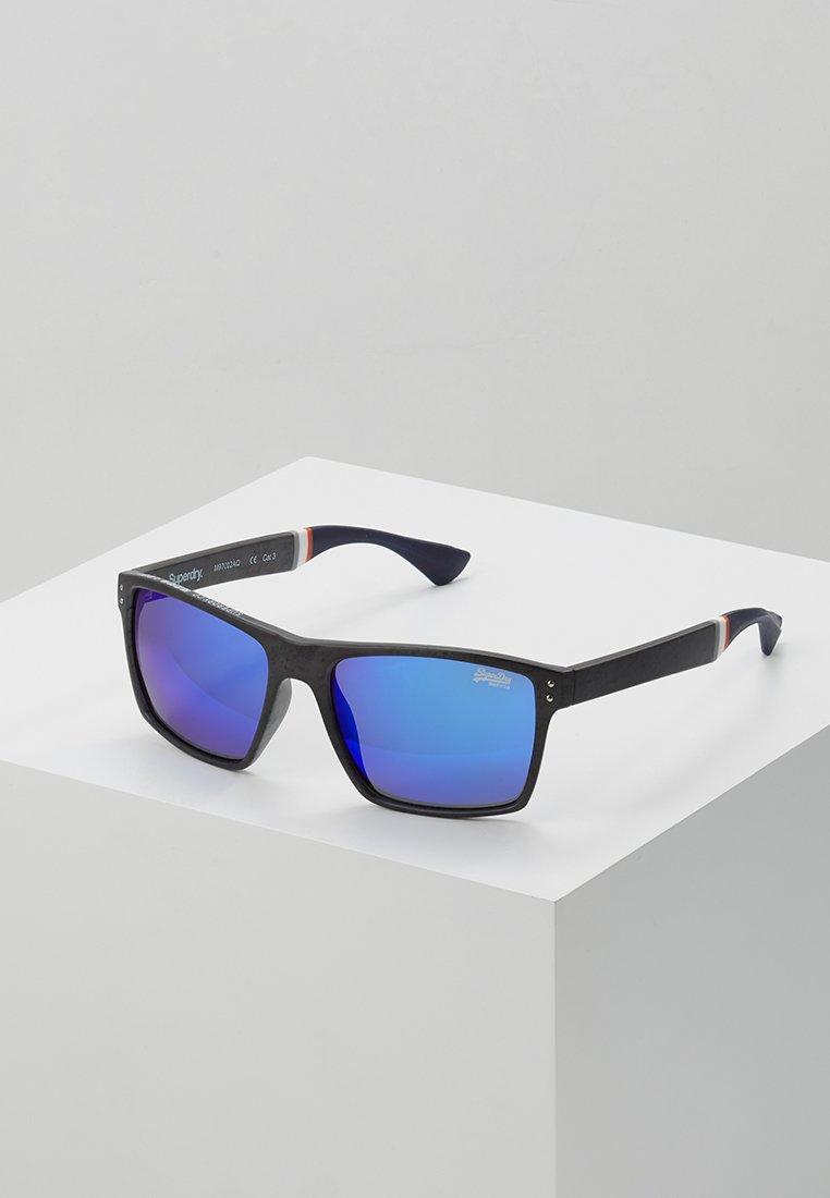 Superdry - YAKIMA - Zonnebril - matte grey marl/blue mirror lense