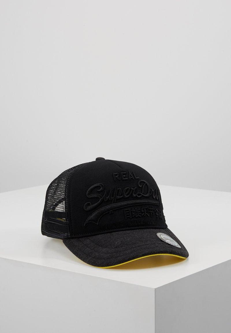 Superdry - PREMIUM GOOD - Cap - washed black