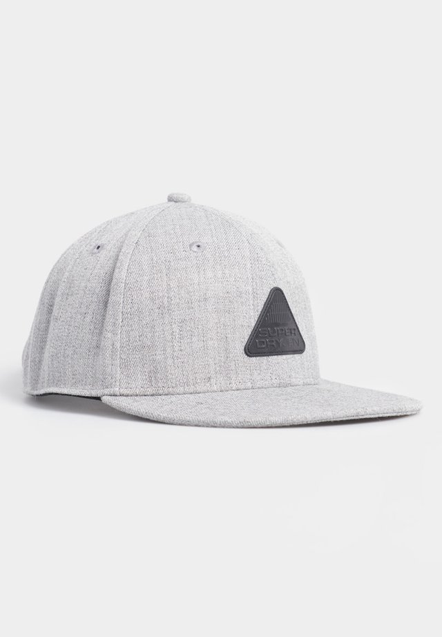 SUPERDRY 6 PANEL TWILL CAP - Keps - grey marl