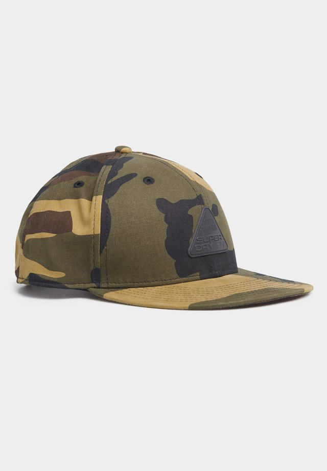 SUPERDRY 6 PANEL TWILL CAP - Keps - green camo