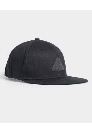 SUPERDRY 6 PANEL TWILL CAP - Caps - black