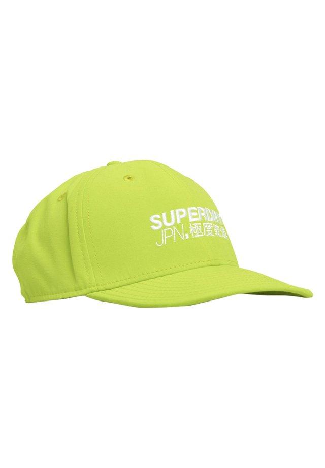 SUPERDRY 6 PANEL SOFT CAP - Czapka z daszkiem - lime green
