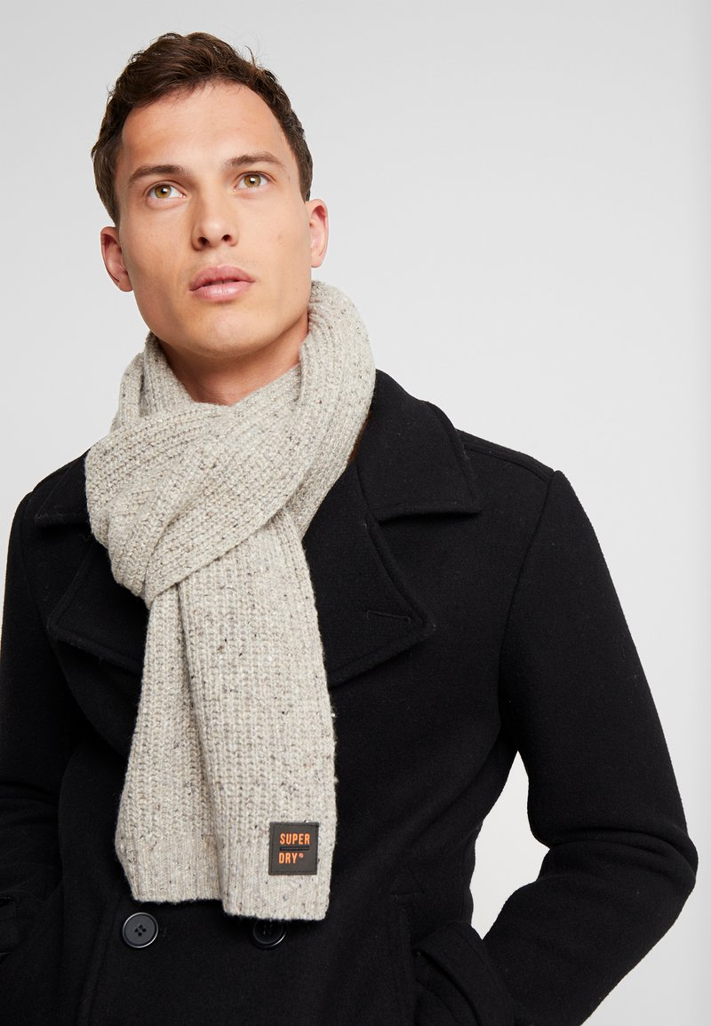 Superdry - SURPLUS SCARF - Šála - oatmeal tweed