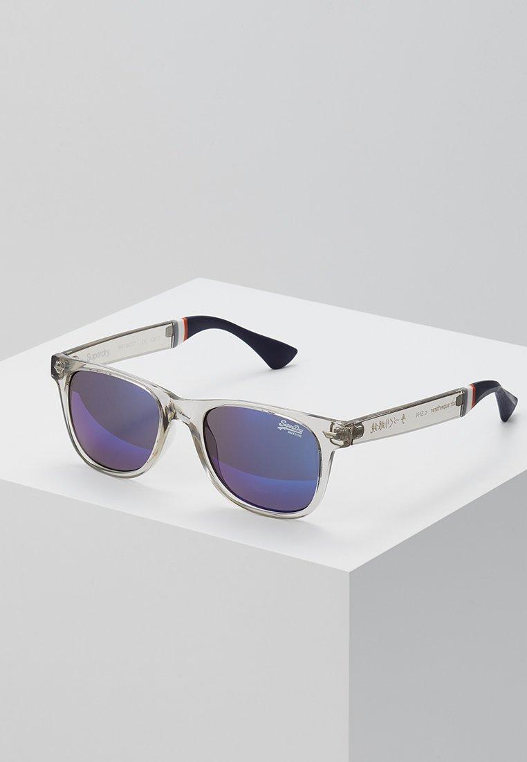 Superdry - SUPERFARER - Gafas de sol - gloss grey crystal/blue revo