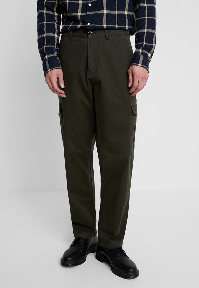 Cargo trousers - forrest green