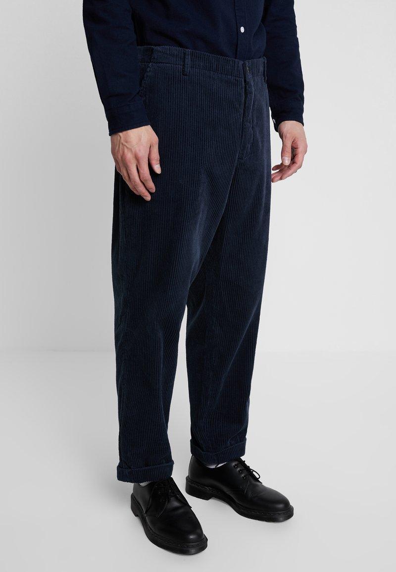 Suit - TOBY CORDUROY - Trousers - dark navy