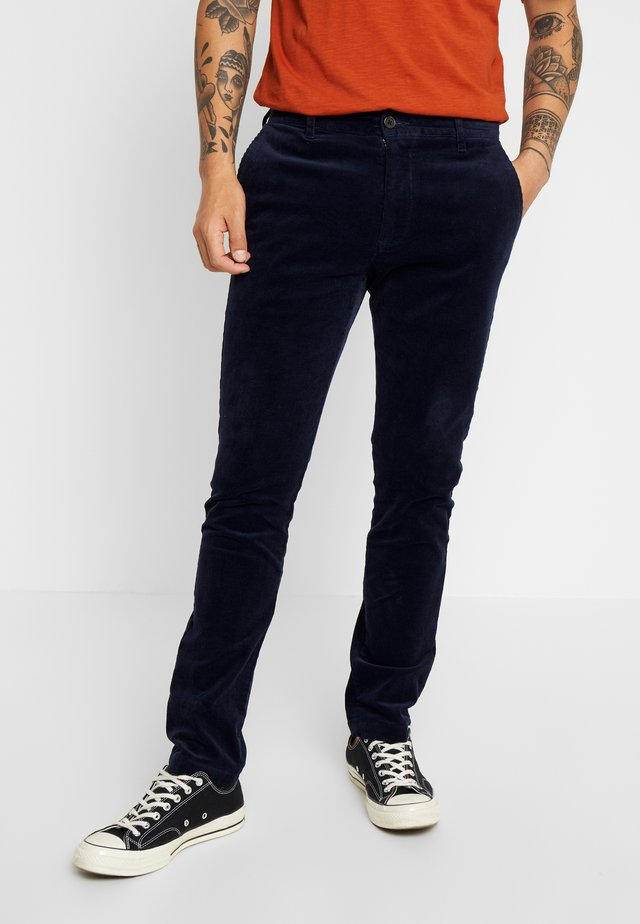 PANTS - Tygbyxor - dark navy