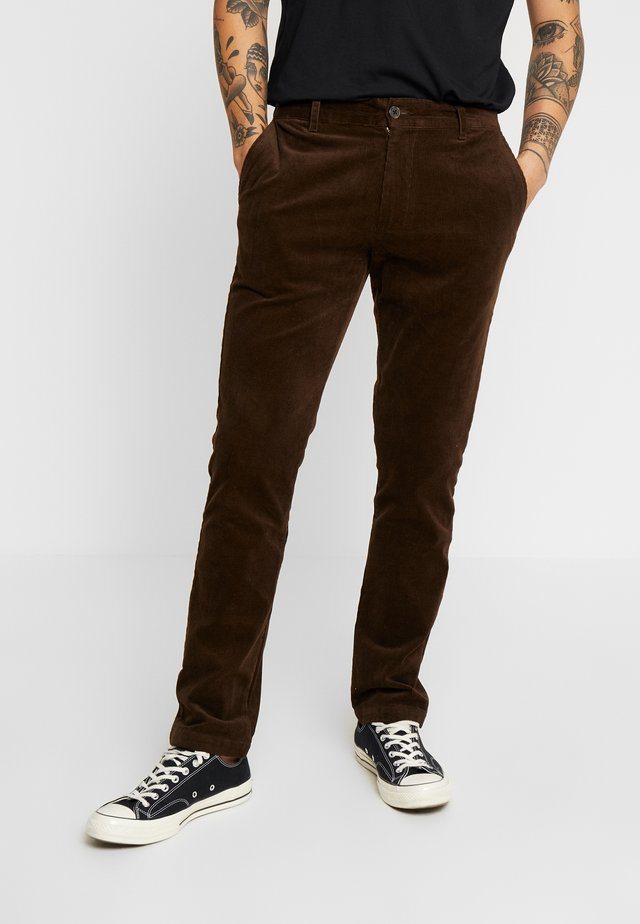 PANTS - Tygbyxor - dark brown