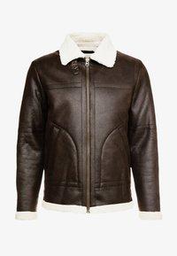 Suit - SHEARLING - Kunstlederjacke - dark brown - 4