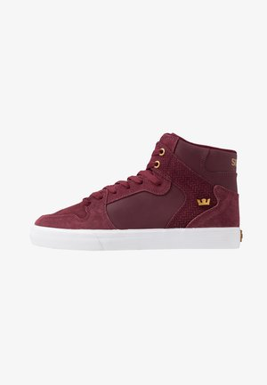 VAIDER - Sneakers hoog - wine/white