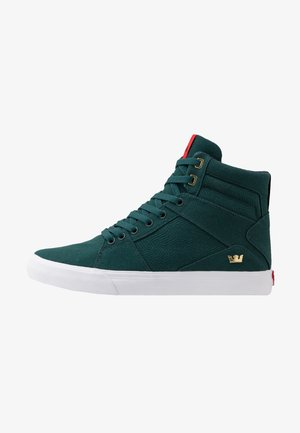 ALUMINUM - Sneakers hoog - evergreen/white