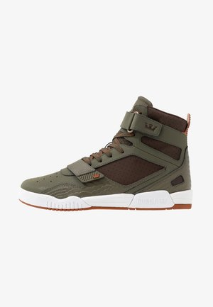 BREAKER - Sneakers hoog - olive/demitasse/white