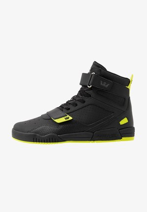 BREAKER - Korkeavartiset tennarit - black/lime