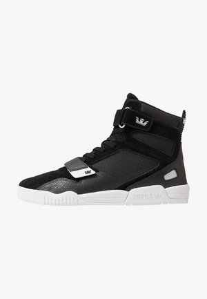 BREAKER - Sneaker high - black/silver/white