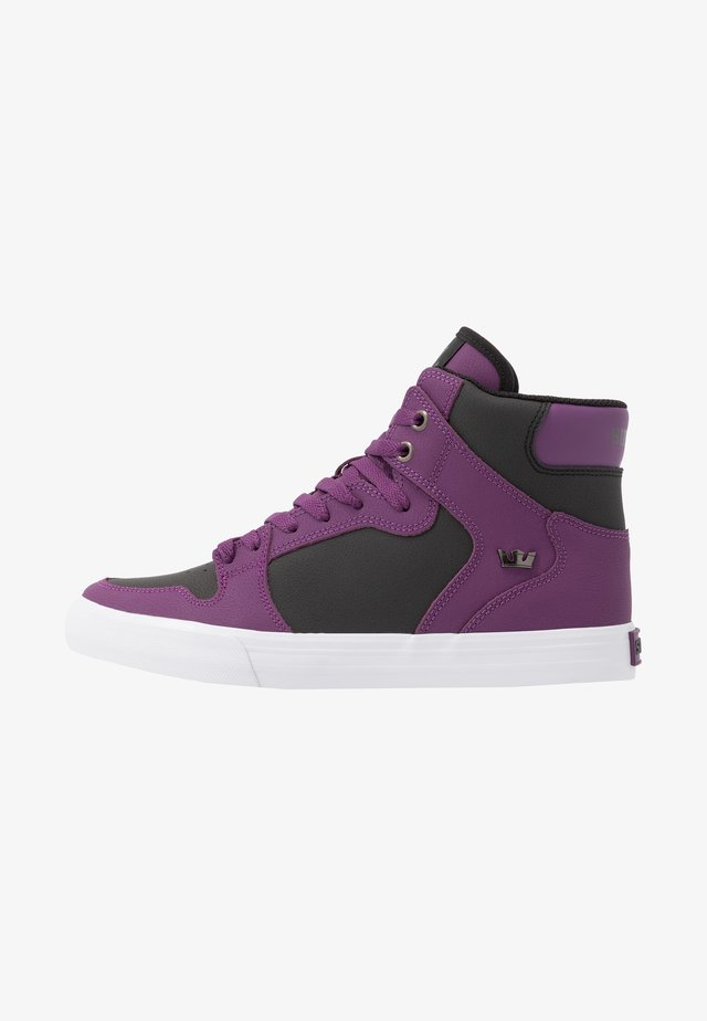 VAIDER - Sneaker high - plum/white