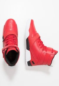 Supra - BREAKER - Korkeavartiset tennarit - red/black/white - 1