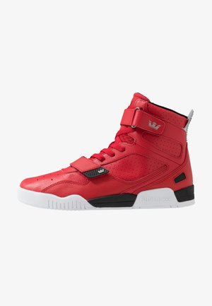 BREAKER - High-top trainers - red/black/white
