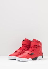 Supra - BREAKER - Korkeavartiset tennarit - red/black/white - 2