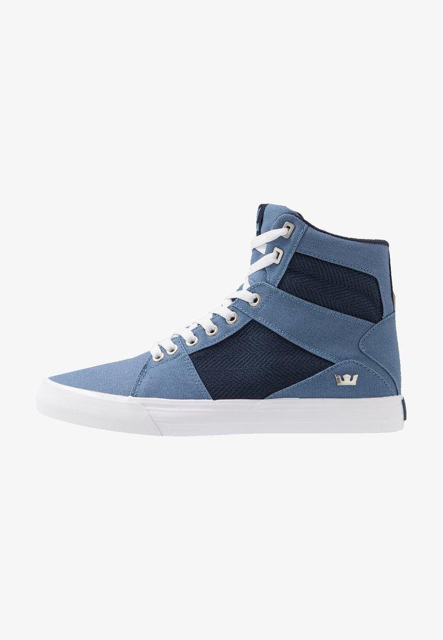 ALUMINUM - Höga sneakers - horizon/navy/white