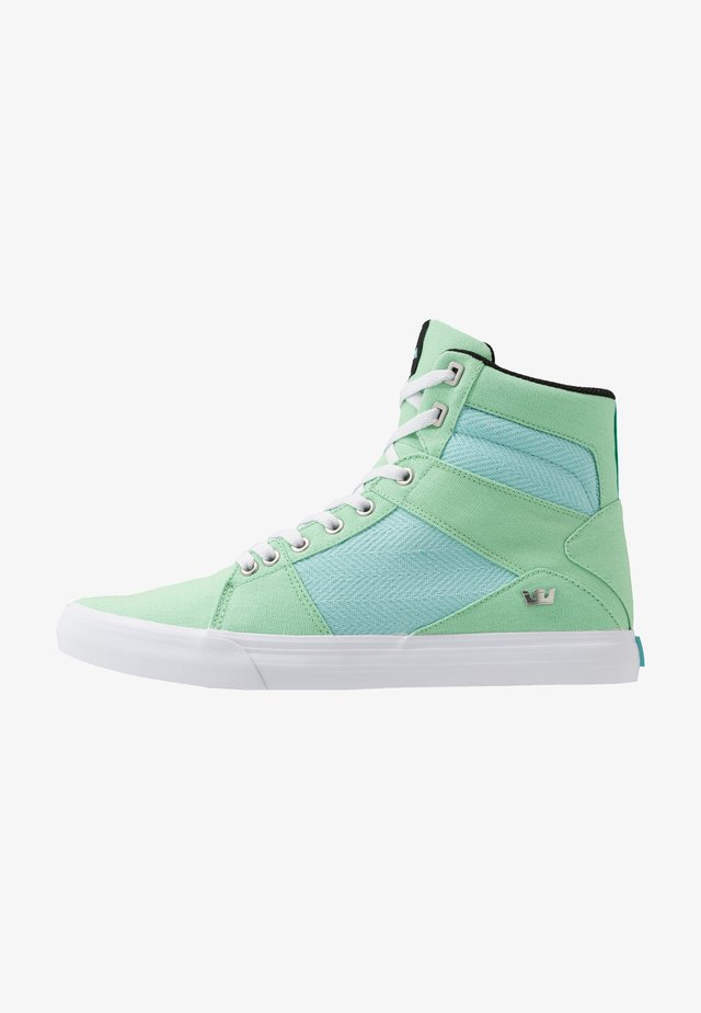 ALUMINUM - Sneakers high - mint/island white