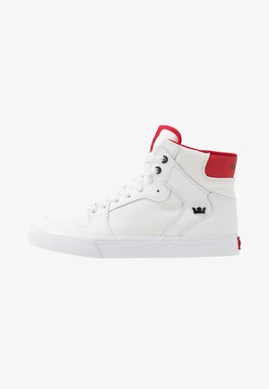 VAIDER - High-top trainers - white/red