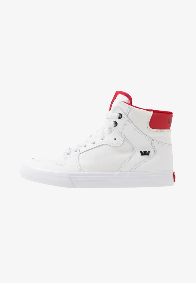 VAIDER - Vysoké tenisky - white/red