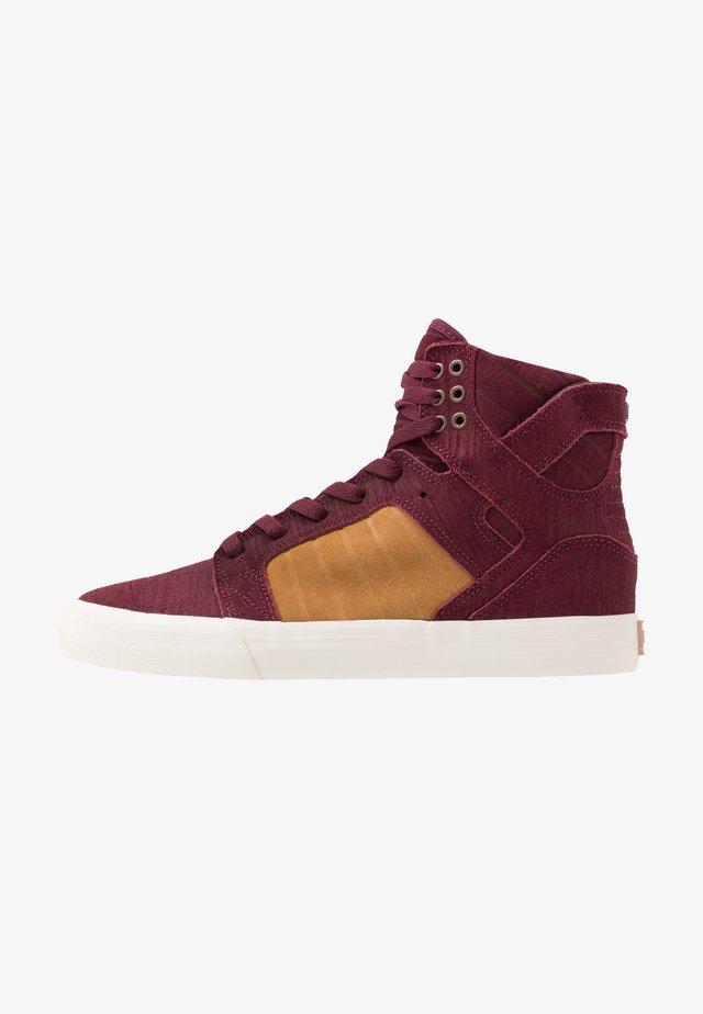 SKYTOP - Sneakersy wysokie - wine/tan/bone