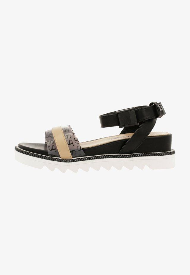 Sandales - nud-blk