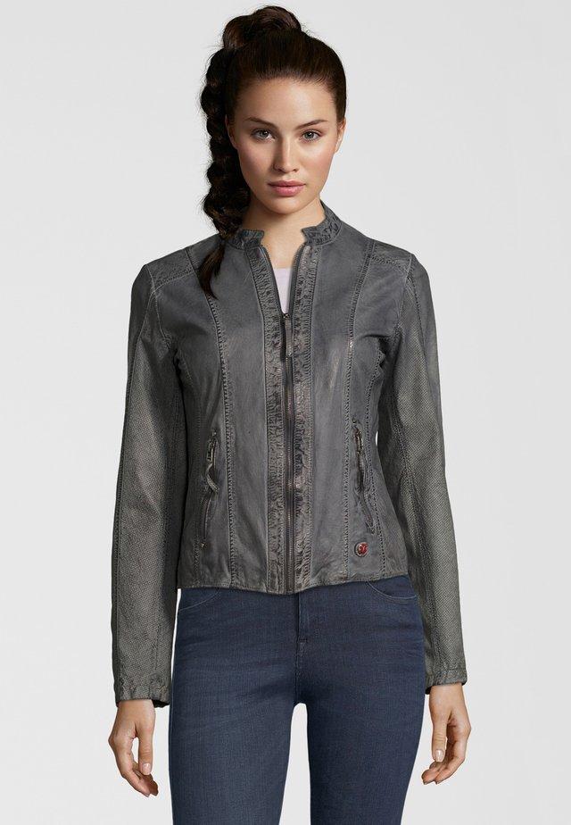 SHANNON  - Leather jacket - grey