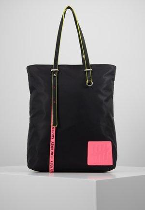 LABEL FIVE - Tote bag - black/pink