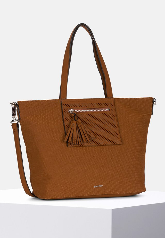 ROMY AILEY - Shopping Bag - cognac