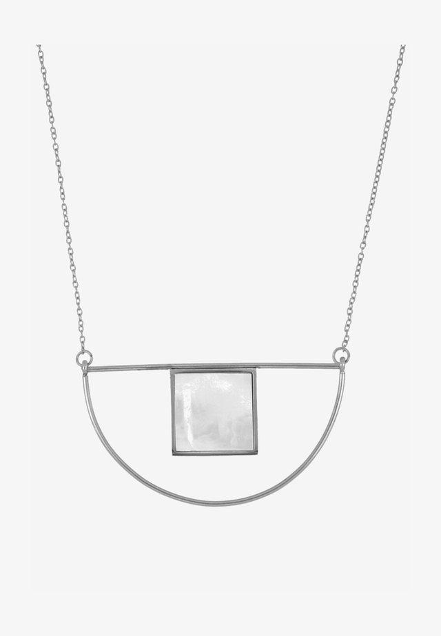 Halskette - steel-coloured
