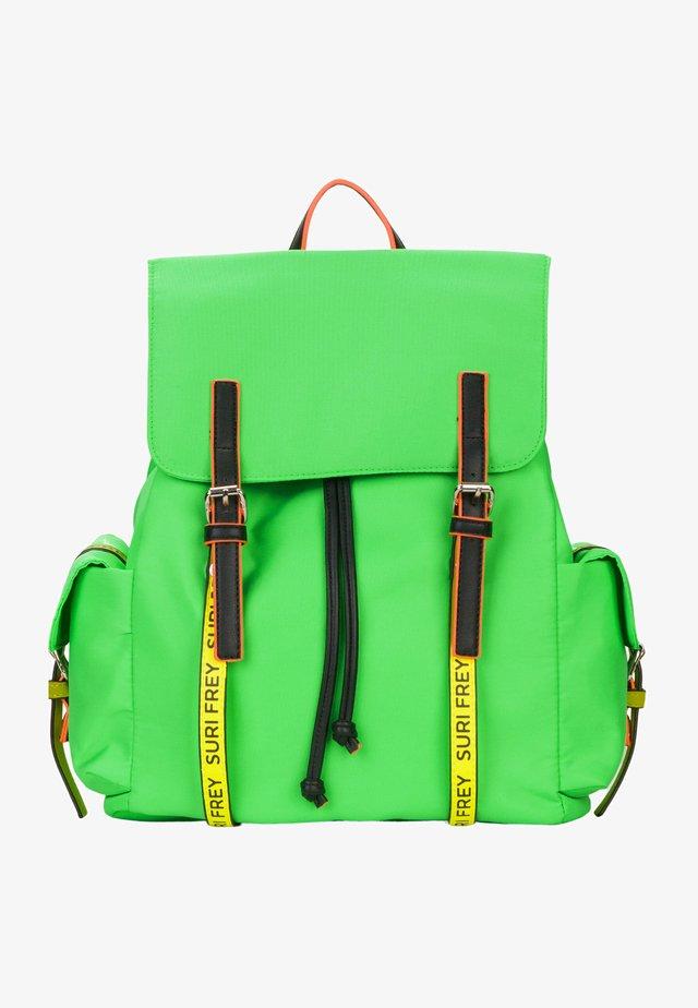 LABEL FIVE - Tagesrucksack - green/yellow