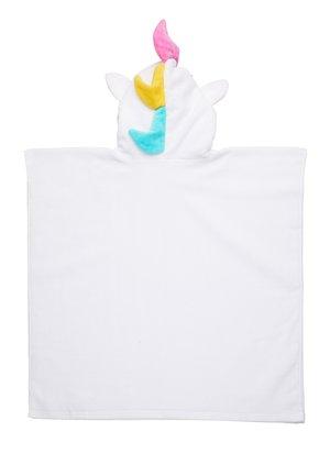 KIDS HOODED BEACH TOWEL - Župan - white