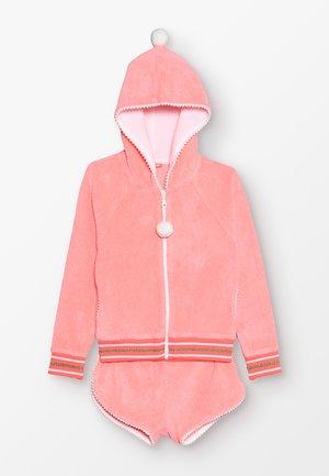 GIRLS TOWELLING SET - Zip-up hoodie - sherbert pink